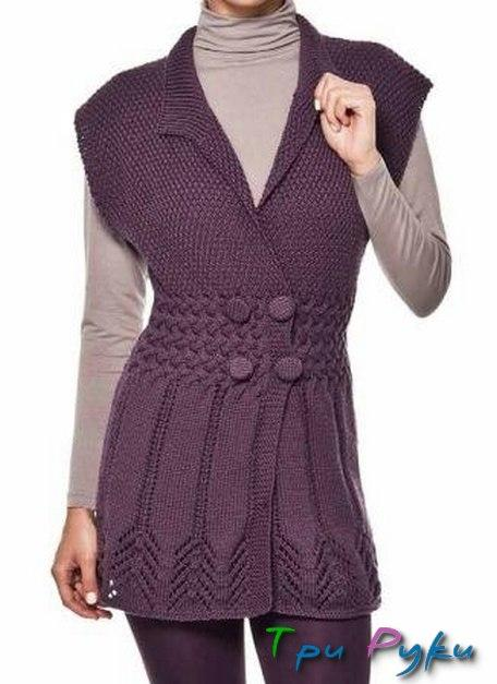 Ажурная фиолетовая туника (1)