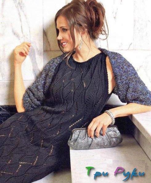 Ажурное платье и шраг (2)