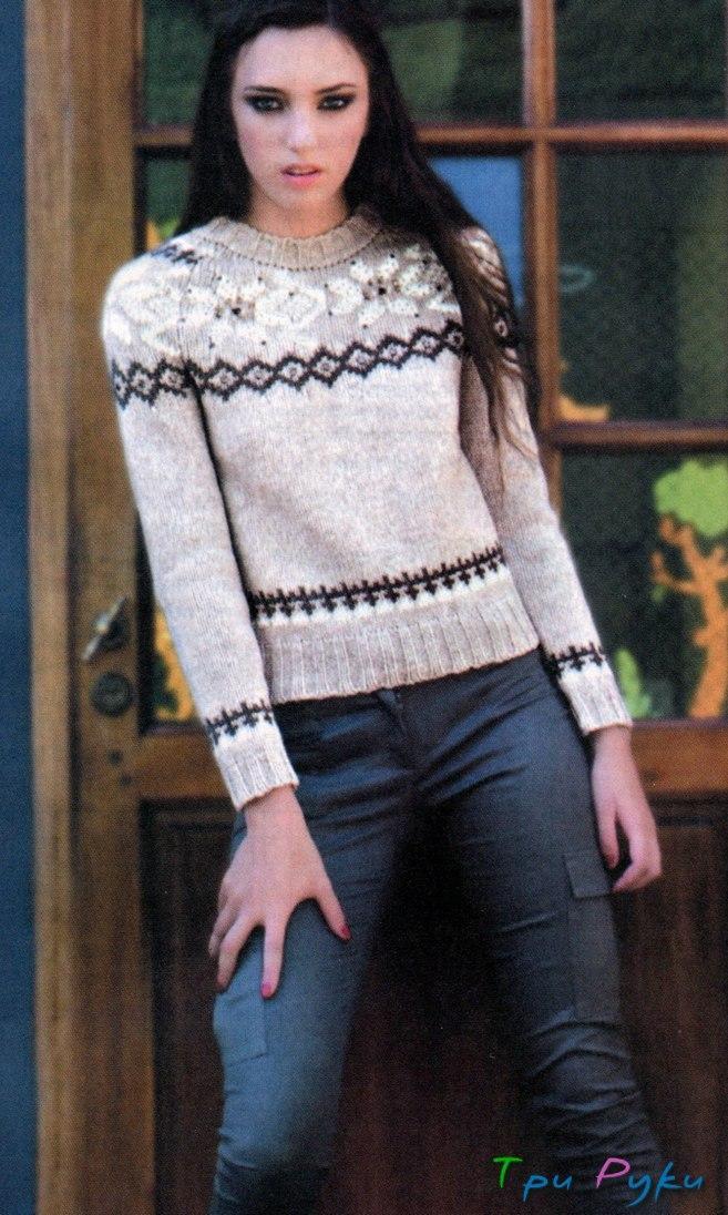 Пуловер с жаккардом (2)