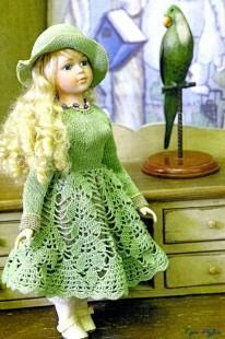 Ажурный наряд для куклы
