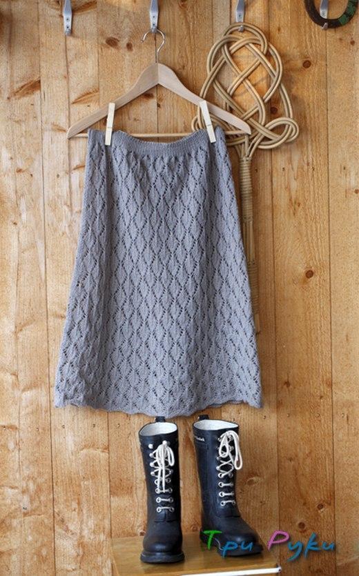 Простая юбка спицами