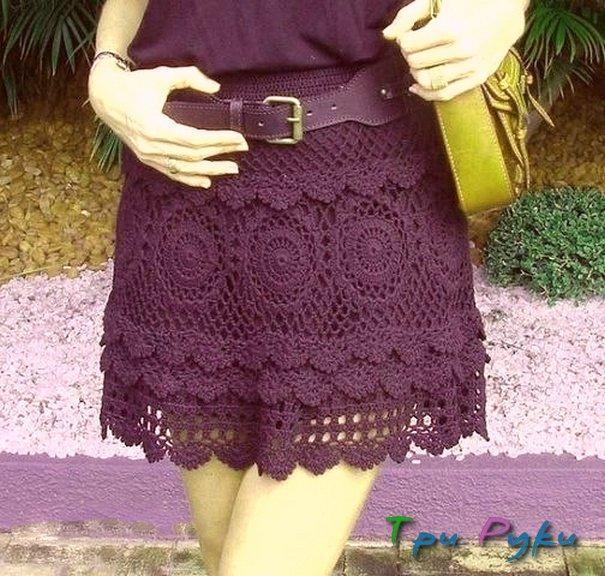 Круженая юбка вязание крючком