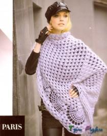Women scarf crochet