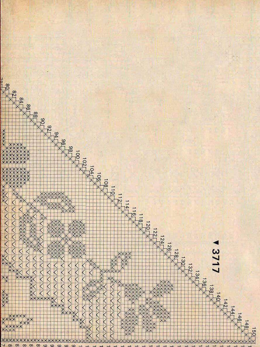 Филейное вязание шаль с цветами