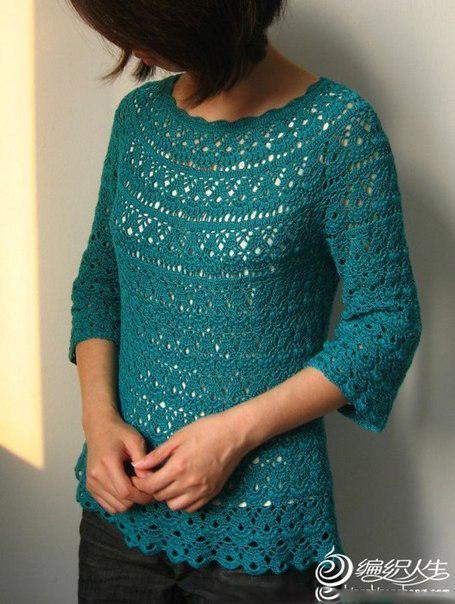 Crocheted sweater