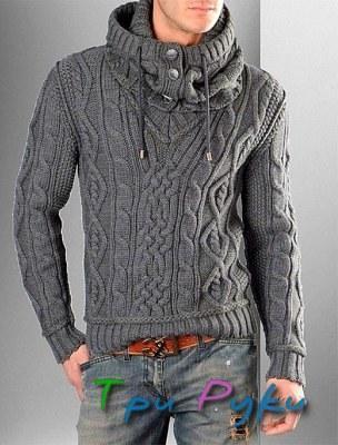 Мужской свитер с капюшоном