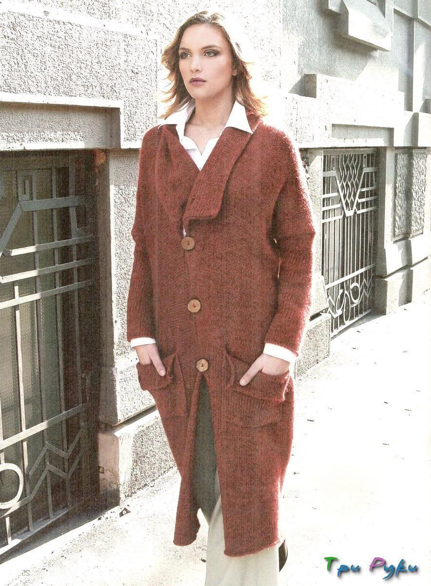 Вязание спицами пальто кардиганы