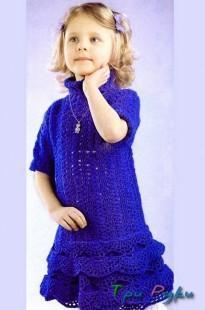 Платье девочке 4-5 лет вязание спицами