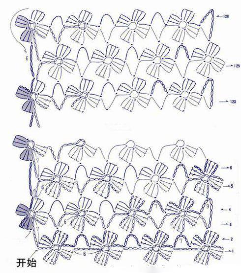 Шарф крючком безотрывное вязание схема вязания