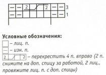 Схема вязания тапочек
