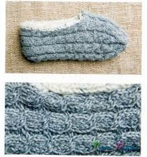 Домашние тапочки вязание спицами
