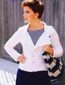 Жакет тунисское вязание
