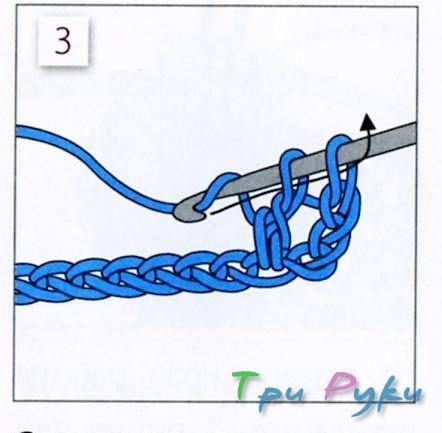 Столбик с накидом 3 этап