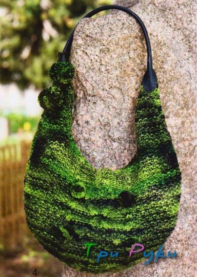 Зеленая вязаная юбка