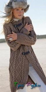 Пальто с узором