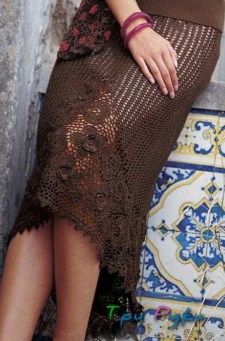 Ажурные юбка