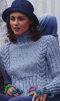 Фото пуловера с косами