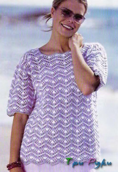 фото пуловера волна