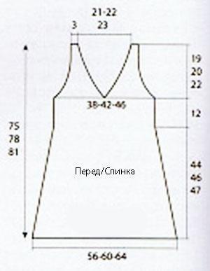 Летняя модель  сарафана