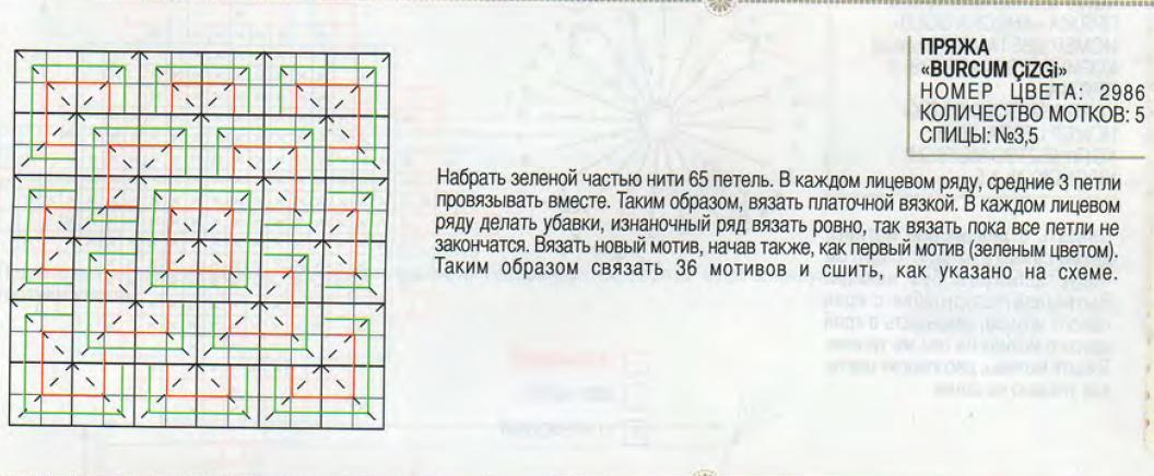 Плед из крупых квадратов