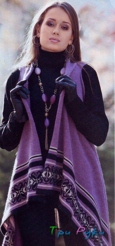 Кардиган - распашонка вязание спицами