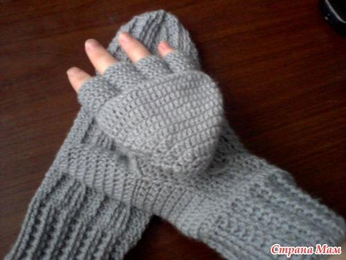 Вяжем перчатки спицами схемы 115