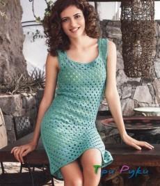 Ажурное платье крючком - модно по летнему