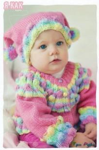 Вязание крючок шапка новорожденному