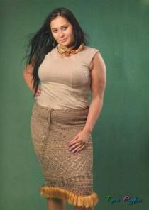 Ажурная юбка с бахромой - для модных пышек