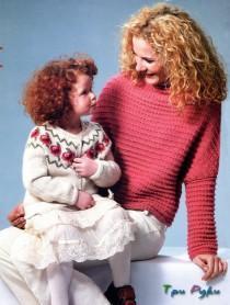 Женский свитер и жакет для дочки