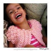 Розовое болеро девочке фото