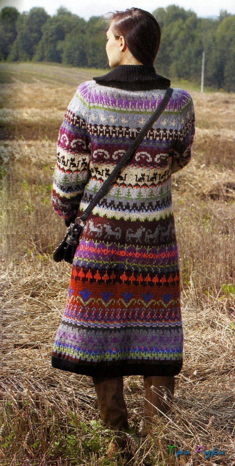 Пальто с рукавами реглан жаккард