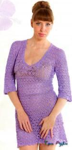 Платье крючком - простой и модное