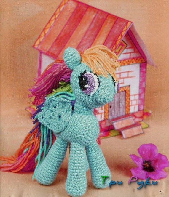 вязаная пони