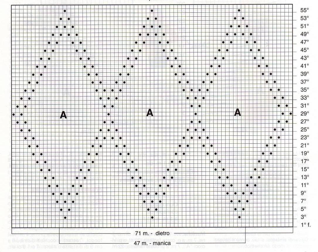 Рисунки из ромбов вязание схемы 29