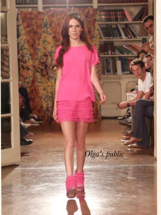 Розовое платье Vanessa Montoro