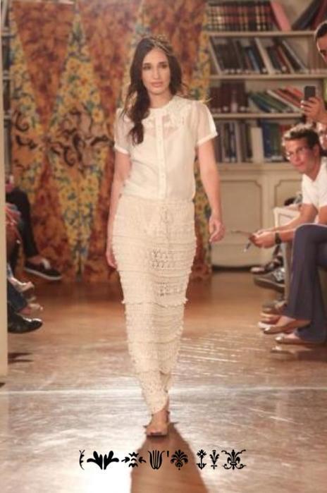 Белое платье с подиума мода 2014