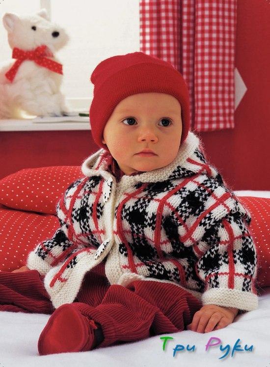 Жакардовый жакет малышу