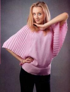 """Пуловер рукава """"Летучая мышь"""""""