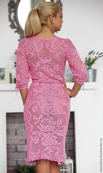 Вязание крючком филейные узоры платье