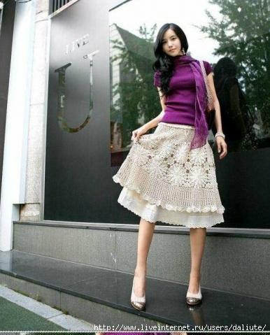 Юбка из Японии до колена