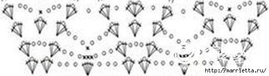 Летняя белая юбка крючком. Схемы (15) (528x149, 42Kb)