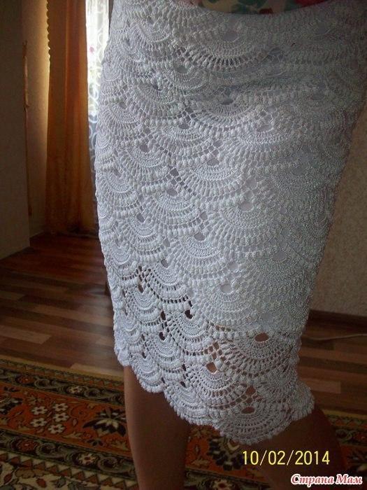 Авторская вязаная юбка