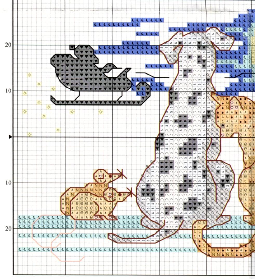 Схемы вышивки с далматинцами 391