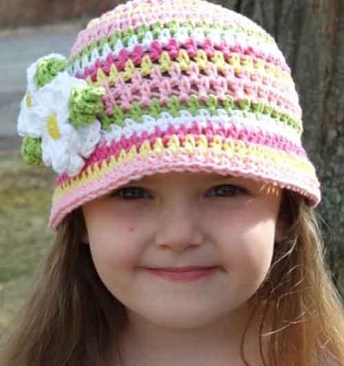 Как вязать детскую крючком шапку