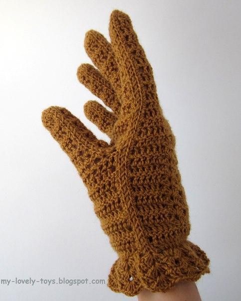 перчатки крючком начинающим