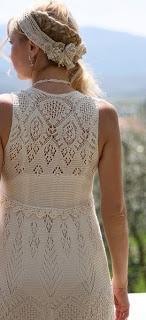 вязание спицами, платье ажурное, шетландский ажур,