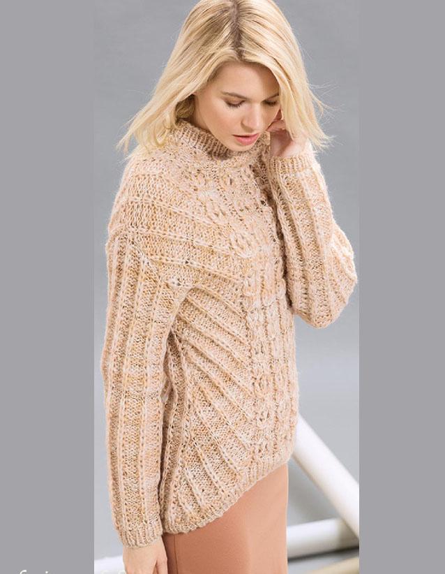 Пуловер с патентной резинкой